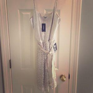 NWT silver Express dress size L